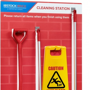 Ibstock Brick Co. Cleaning Station - with tools